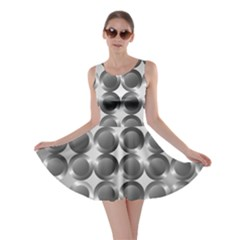 Metal Circle Background Ring Skater Dress