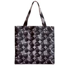 Metal Circle Background Ring Zipper Grocery Tote Bag