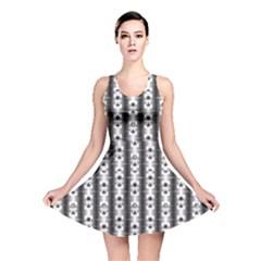 Pattern Background Texture Black Reversible Skater Dress