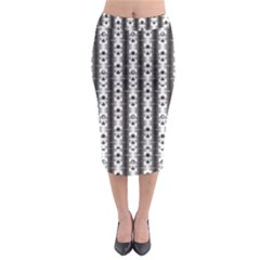 Pattern Background Texture Black Midi Pencil Skirt