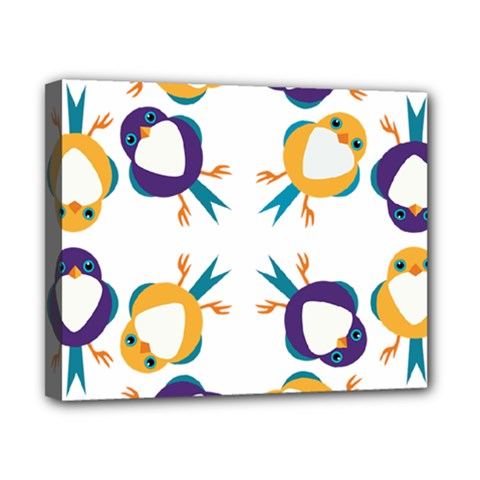 Pattern Circular Birds Canvas 10  X 8  by BangZart