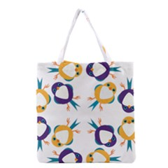 Pattern Circular Birds Grocery Tote Bag by BangZart