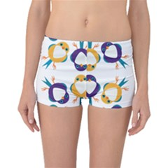 Pattern Circular Birds Boyleg Bikini Bottoms