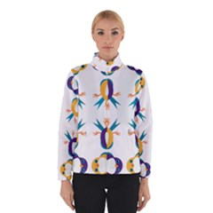 Pattern Circular Birds Winterwear