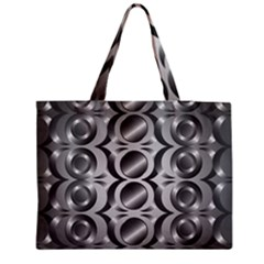 Metal Circle Background Ring Medium Tote Bag by BangZart
