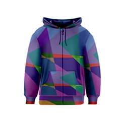 Abstract #415 Tipping Point Kids  Zipper Hoodie
