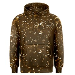 Festive Bubbles Sparkling Wine Champagne Golden Water Drops Men s Pullover Hoodie by yoursparklingshop