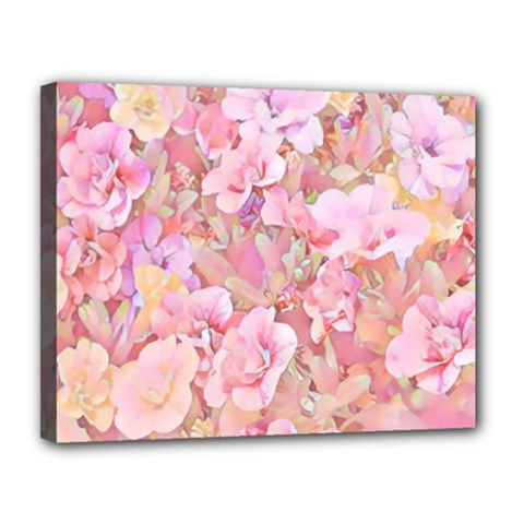 Lovely Floral 36a Canvas 14  X 11  by MoreColorsinLife
