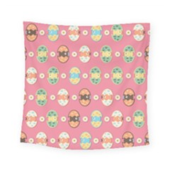 Cute Eggs Pattern Square Tapestry (small) by linceazul