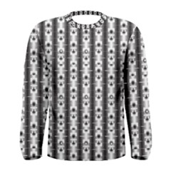 Pattern Background Texture Black Men s Long Sleeve Tee