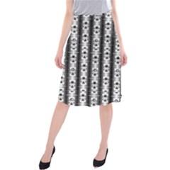 Pattern Background Texture Black Midi Beach Skirt