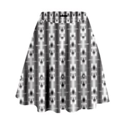 Pattern Background Texture Black High Waist Skirt