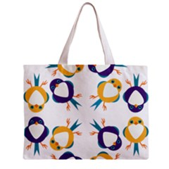 Pattern Circular Birds Zipper Mini Tote Bag by BangZart