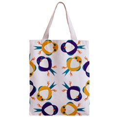 Pattern Circular Birds Zipper Classic Tote Bag by BangZart