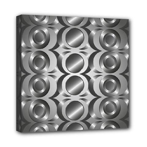 Metal Circle Background Ring Mini Canvas 8  X 8