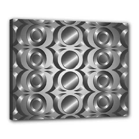 Metal Circle Background Ring Canvas 20  X 16