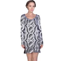 Metal Circle Background Ring Long Sleeve Nightdress