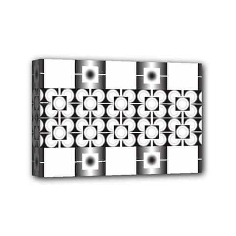 Pattern Background Texture Black Mini Canvas 6  X 4