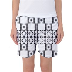 Pattern Background Texture Black Women s Basketball Shorts