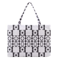 Pattern Background Texture Black Medium Zipper Tote Bag by BangZart