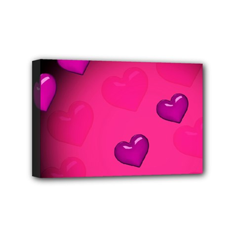 Background Heart Valentine S Day Mini Canvas 6  X 4