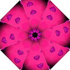 Background Heart Valentine S Day Hook Handle Umbrellas (small)