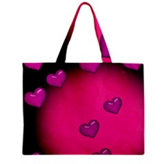 Background Heart Valentine S Day Zipper Mini Tote Bag by BangZart
