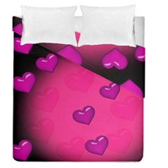 Background Heart Valentine S Day Duvet Cover Double Side (queen Size)