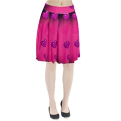 Background Heart Valentine S Day Pleated Skirt by BangZart