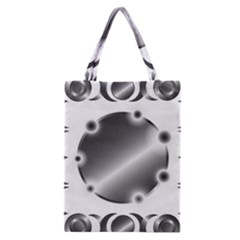 Metal Circle Background Ring Classic Tote Bag by BangZart