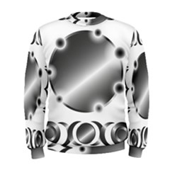 Metal Circle Background Ring Men s Sweatshirt