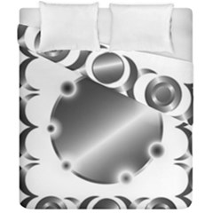 Metal Circle Background Ring Duvet Cover Double Side (california King Size) by BangZart