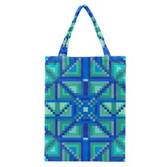 Grid Geometric Pattern Colorful Classic Tote Bag by BangZart