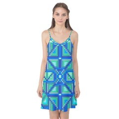 Grid Geometric Pattern Colorful Camis Nightgown