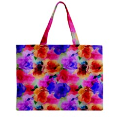Floral Pattern Background Seamless Zipper Mini Tote Bag