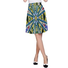 Kaleidoscope Background A Line Skirt