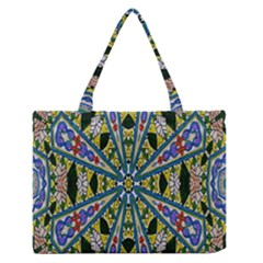 Kaleidoscope Background Medium Zipper Tote Bag