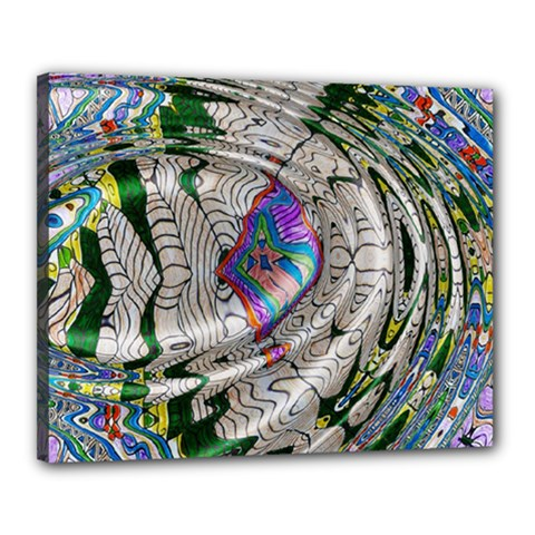 Water Ripple Design Background Wallpaper Of Water Ripples Applied To A Kaleidoscope Pattern Canvas 20  X 16  by BangZart
