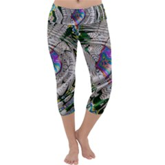 Water Ripple Design Background Wallpaper Of Water Ripples Applied To A Kaleidoscope Pattern Capri Yoga Leggings