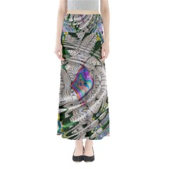 Water Ripple Design Background Wallpaper Of Water Ripples Applied To A Kaleidoscope Pattern Full Length Maxi Skirt