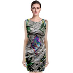 Water Ripple Design Background Wallpaper Of Water Ripples Applied To A Kaleidoscope Pattern Classic Sleeveless Midi Dress