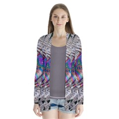 Water Ripple Design Background Wallpaper Of Water Ripples Applied To A Kaleidoscope Pattern Drape Collar Cardigan by BangZart