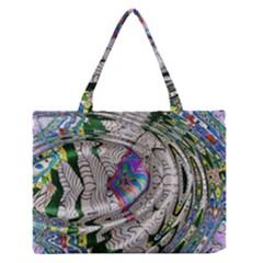 Water Ripple Design Background Wallpaper Of Water Ripples Applied To A Kaleidoscope Pattern Medium Zipper Tote Bag