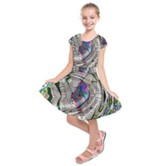 Water Ripple Design Background Wallpaper Of Water Ripples Applied To A Kaleidoscope Pattern Kids  Short Sleeve Dress
