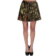 Wallpaper With Fractal Small Flowers Skater Skirt