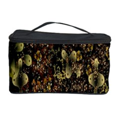 Wallpaper With Fractal Small Flowers Cosmetic Storage Case by BangZart