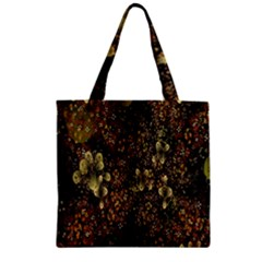 Wallpaper With Fractal Small Flowers Zipper Grocery Tote Bag by BangZart