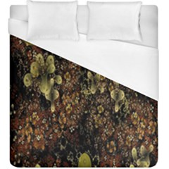 Wallpaper With Fractal Small Flowers Duvet Cover (king Size) by BangZart