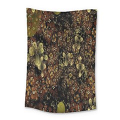 Wallpaper With Fractal Small Flowers Small Tapestry