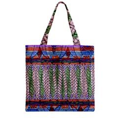 Nature Pattern Background Wallpaper Of Leaves And Flowers Abstract Style Zipper Grocery Tote Bag